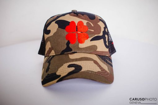 Trotti casquettes Marseille Camouflage Rouge
